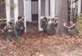 Police Officers outside of house